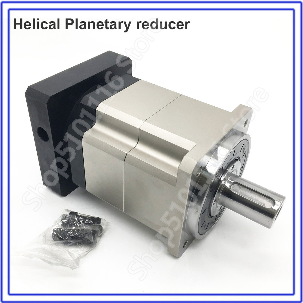 Planetary  Gearbox 15 :1 Helical  5 Arcmin  Reducer 22mm Input for NEMA52 120mm 130mm 1KW - 3KW AC Servo Motor Robot CNC