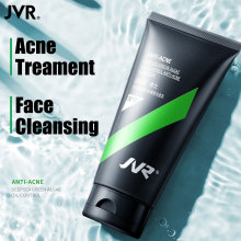 JVR Men Cleanser Deep Sea Green Algae Facial Cleanser Oil Control Shrink Pores Soothing Face Wash Acne Treatment Male Skin Care недорого