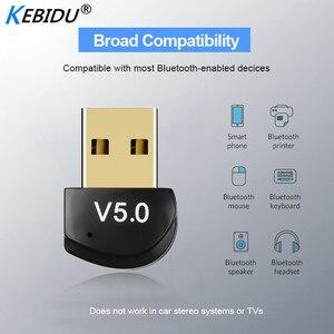 Image 2 - Kebidu מיני BT 5.0 מתאם USB Dongle אלחוטי USB Bluetooth משדר 5.0 מוסיקה מקלט Bluetooth מתאם עבור מחשב PC