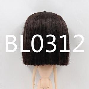 Image 2 - Blyth הבובה קפוא פאה רק rbl קרקפת הכיפה ישר שיער שמנוני שיער שמנוני שיער צעצוע קרקפת