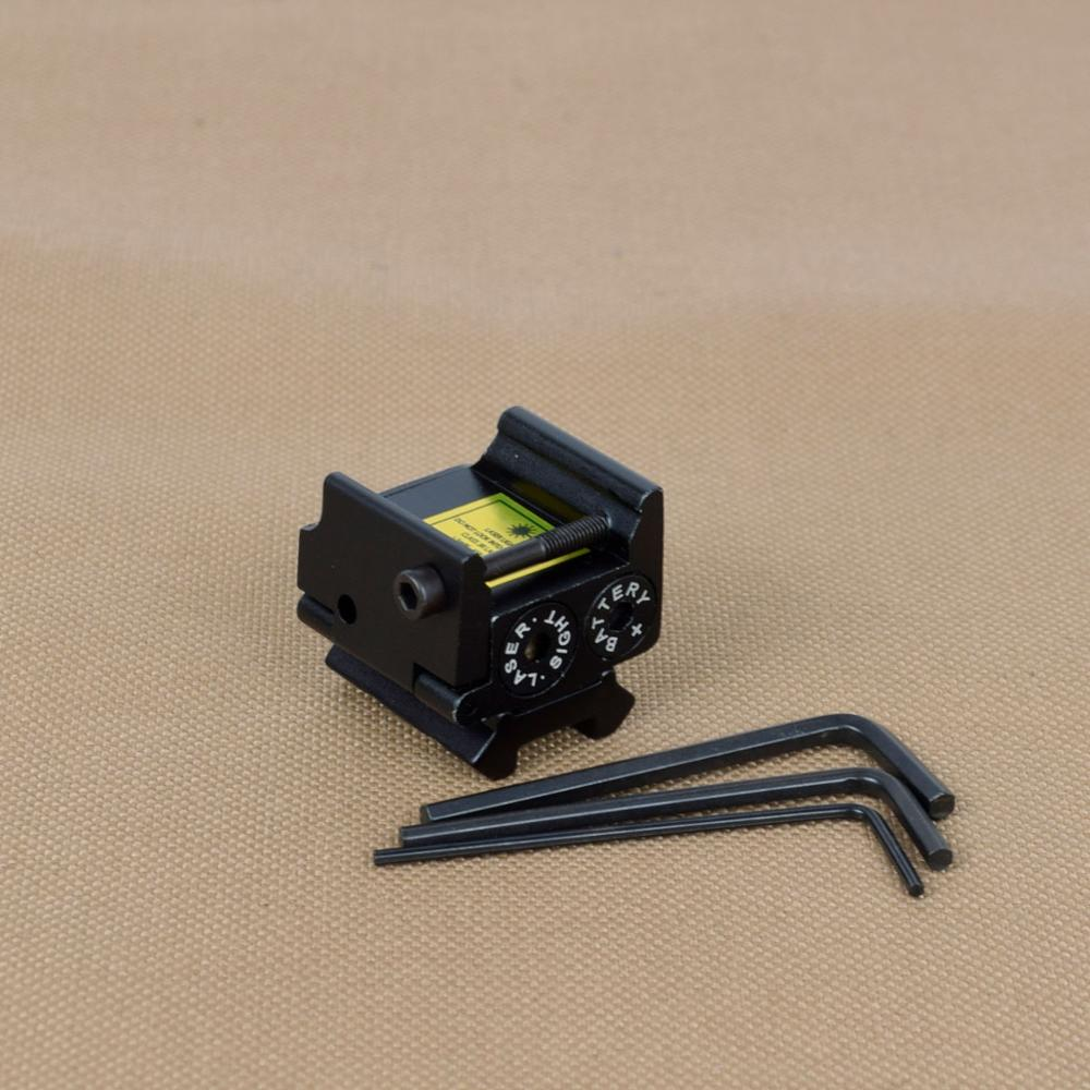 Tactical Mini Adjustable Compact Red Dot Laser Sight For Glock 1911 Pistol Rifle Hunting Laser Sight Fit 20mm Picatinny Rail-5