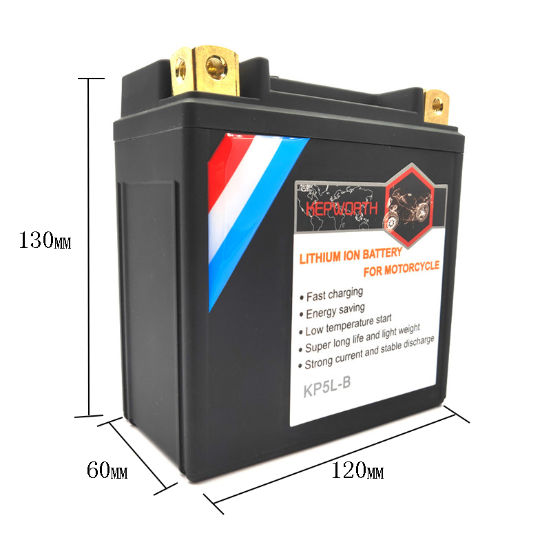 KP5L-B Lithium iron motorcycle battery BMS <font><b>12V</b></font> <font><b>5Ah</b></font> CCA 180A <font><b>LiFePO4</b></font> Battery Jump Starter with Voltage protection image