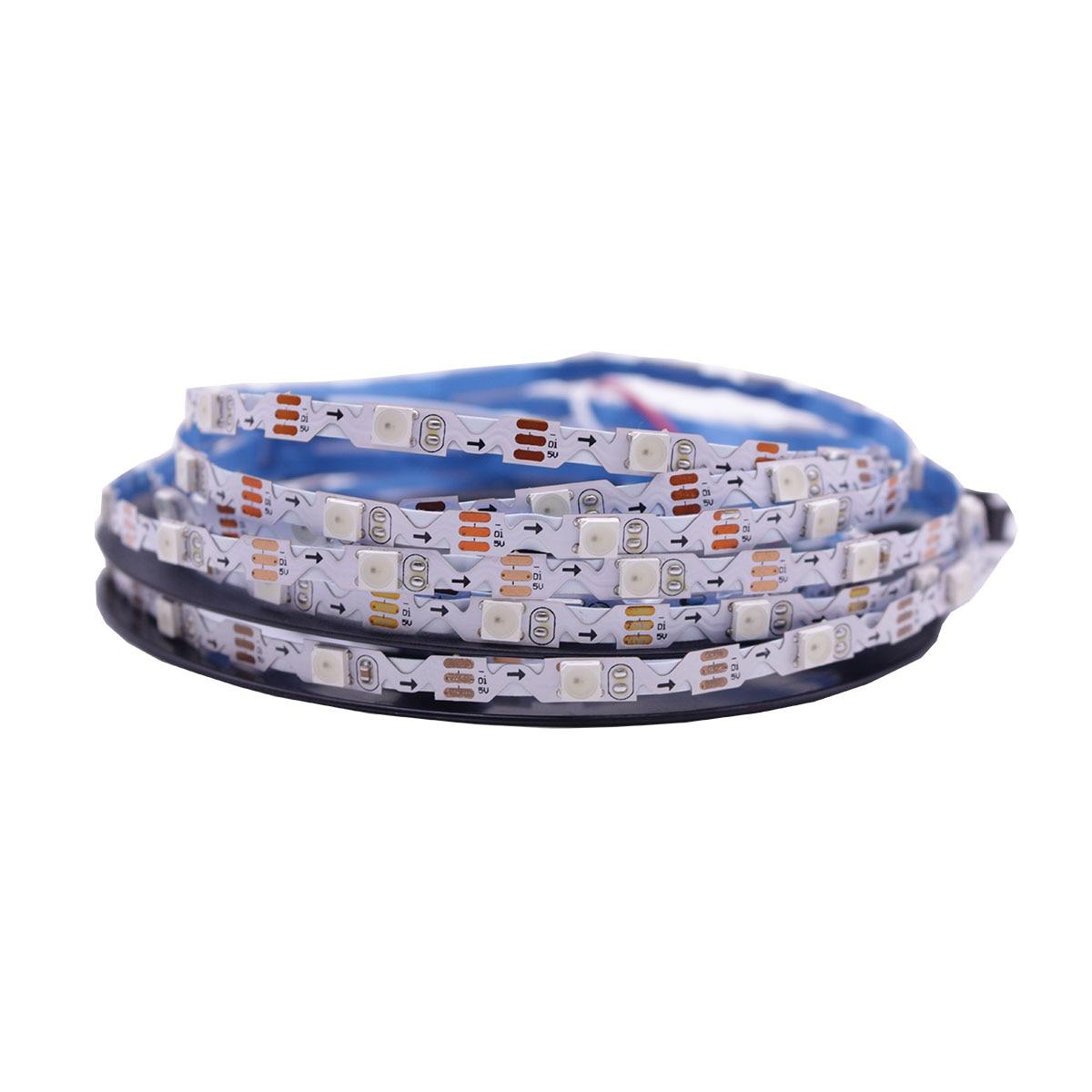 DC5V WS2812B S Shape Foldable Led Strip 30 60led/m 6mm PCB Dream Color 5050 RGB Pixels Tape Light Individually Addressable IP20
