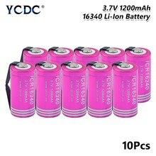 Batterie Lithium-ion Rechargeable pour stylo Laser, 3.7V, 1200mAh, CR123A 16340, pour soudage, feuille de Nickel
