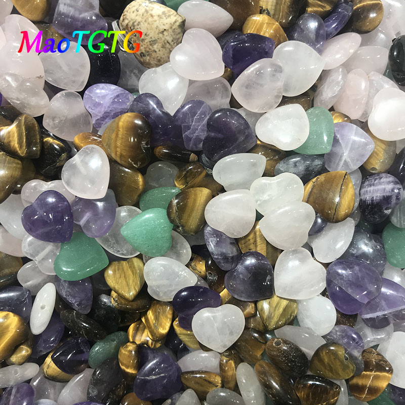 Купить с кэшбэком Heart-shaped Natural Stone Beads For Jewelry Making Necklace Bracelet 12x4.5mm Tiger's Eye Pink Crystal Stone Beads Wholesale