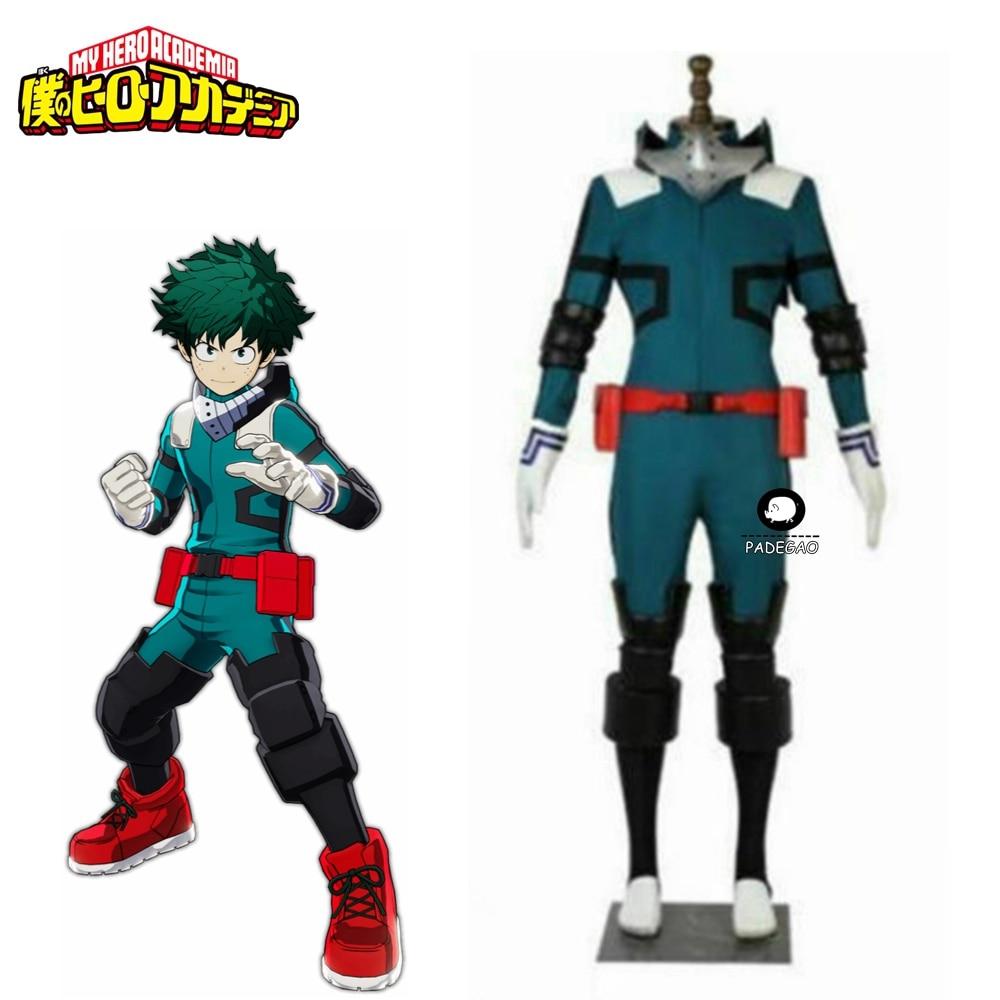 My Hero Academia Cosplay Midoriya Izuku Deku bitwa przebranie na karnawał Unisex kostium zestaw