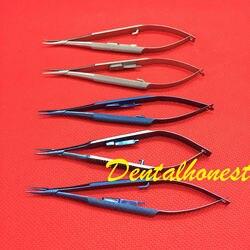 Титановый/нержавеющая сталь, держатель для иглы, офтальмологические инструменты для глаз с замком, 5 шт.