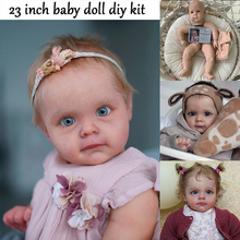 Reborn Kit Reborn Baby Vinyl Kit 23Inches Maggie Soft Touch Unpainted Unfinished Doll Parts DIY Blank Boneca Bebe