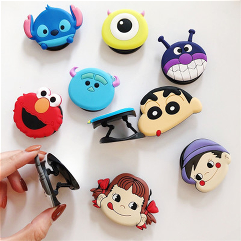 Image 4 - Universal socket phone Stand bracket Expanding Stand stretch grip phone Holder Finger Cute cartoon stand for iphone 7 8 X XS XR-in Phone Holders & Stands from Cellphones & Telecommunications