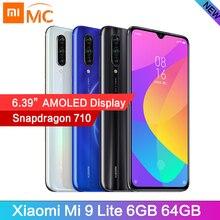 "Xiao Mi Mi 9 Lite Snapdragon710 OCTA Core 6GB 64GB โทรศัพท์มือถือ 6.39 ""AMOLED 48MP กล้อง 4030mAh โทรศัพท์มือถือ Global Version"