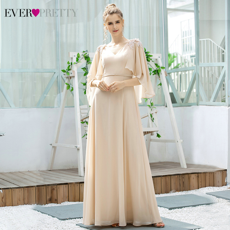 Ever Pretty Blush Bridesmaid Dresses A-Line V-Neck Ruffles With Jacket Appliques Elegant Wedding Party Gowns Vestidos De Festa