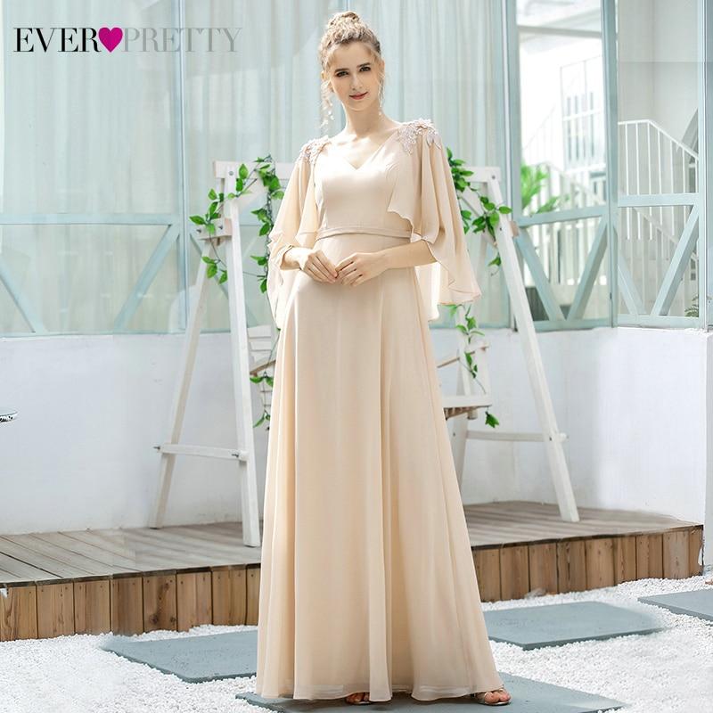 Ever Pretty Blush Bridesmaid Dresses A-Line V-Neck Ruffles With Jacket Appliques Elegant Wedding Party Gowns Vestidos De Festa