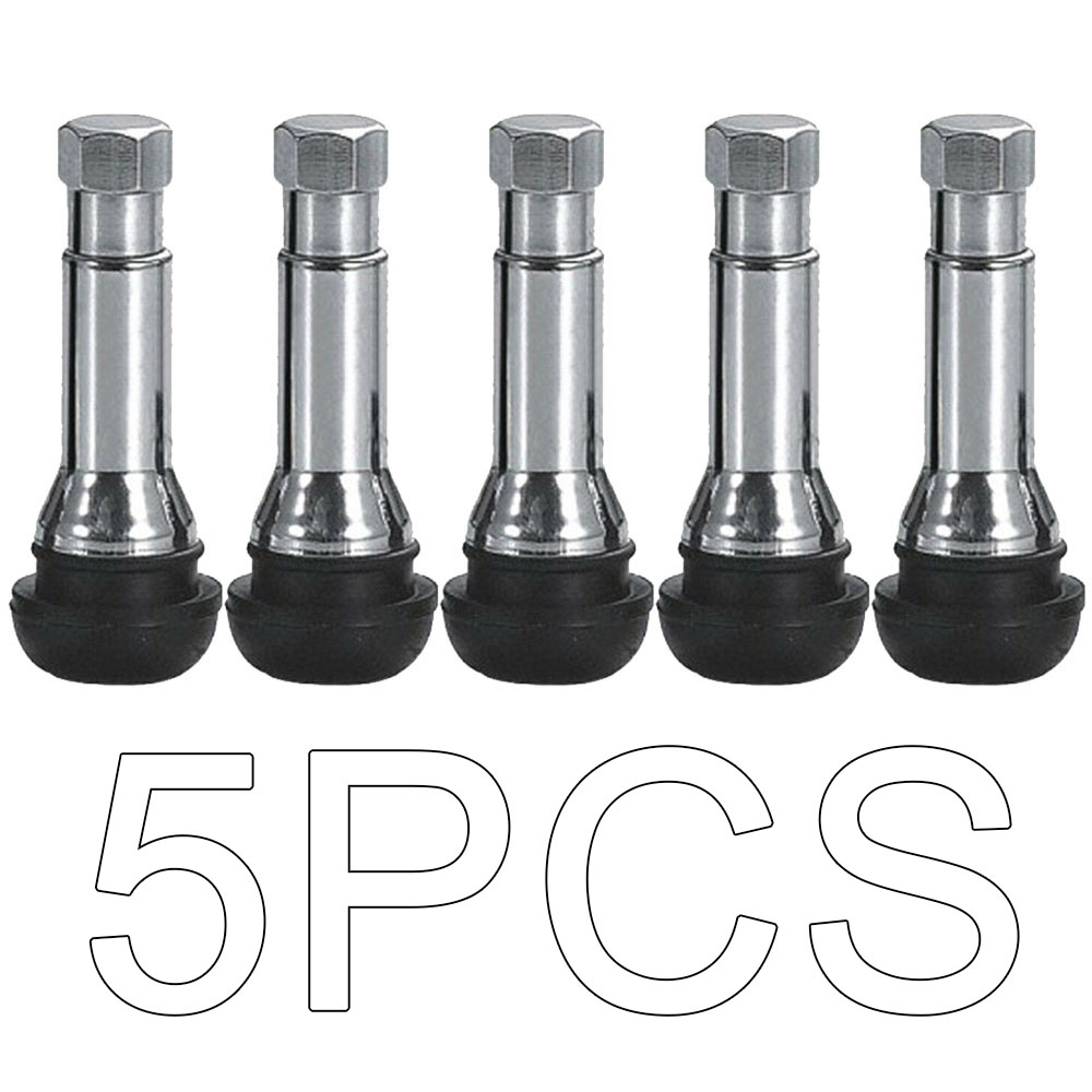5pcs Black Rubber TR414 Snap-in Car Wheel Tyre Tubeless Tire Tyre Valve Stems Dust Caps Wheels Tires Parts Car Auto Accessories
