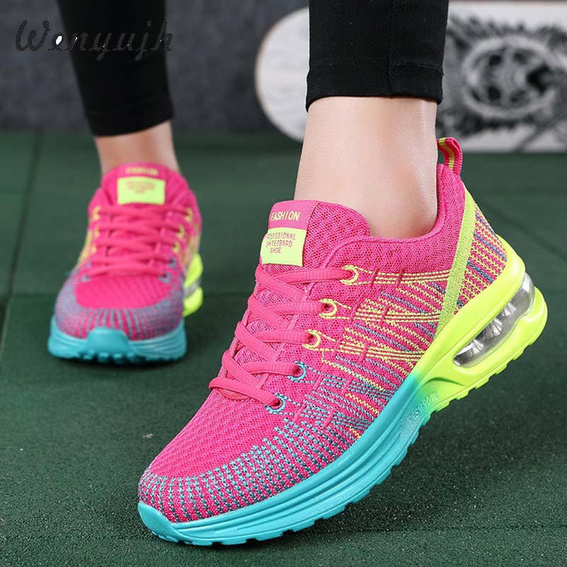 WENYUJHNew Platform Sneakers Shoes Breathable Casual Shoes Woman Fashion Height Increasing Ladies Shoes Plus Size 35-42 2020
