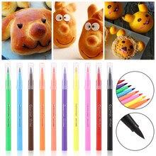 Caneta pigmento comestível em 10 estilos, caneta para pintar alimentos, biscoitos, ferramentas de decoração de bolo, artesanato de bolo, desenho faça você mesmo ferramenta,
