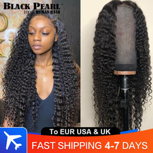 Brazilian Deep Wave Wig 30 Inch Pre Plucked 13x4 Deep Wave Curly Lace Front Wig With Baby Hair Human Hiar Wigs For Black Women