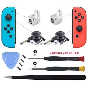 Image 2 - Joy Con 3D Analog Stick Sensor Module for Nintendo Switch Replacement Joycon Metal Lock Buckle Repair Parts for Nintendoswitch