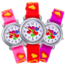 5 Heart-shaped Dials Child Watch Silicone Strap Kids Sports Watches