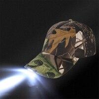 Nacht LED Beleuchtung Hut Camouflage Beleuchtete Mode Lässig Hut Im Freien Bergsteigen Jagd Baseball Cap Wandern Kappe