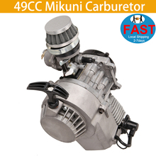цена на 49CC Mikuni Carburetor Carb For Motorcycle Motocross Dirt Bike Quad 2 Stroke Engine Carburetor With Air Filter