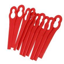 100 шт. красный заменить пластиковые лопасти Подвески резак для беспроводной травы триммер-кусторез садовые аксессуары