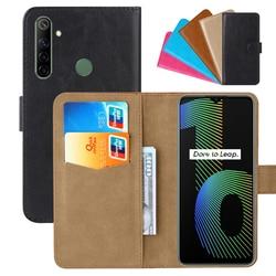 На Алиэкспресс купить чехол для смартфона luxury wallet case for oppo realme narzo 10 pu leather retro flip cover magnetic fashion cases strap