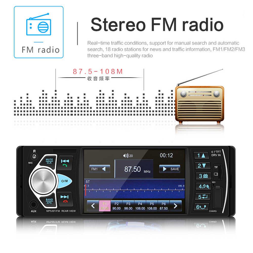 1 Din 車 MP5 プレーヤー FM ラジオステアリングホイールコントローラ 1DIN Autoradio Bluetooth USB AUX サポート逆転カメラ