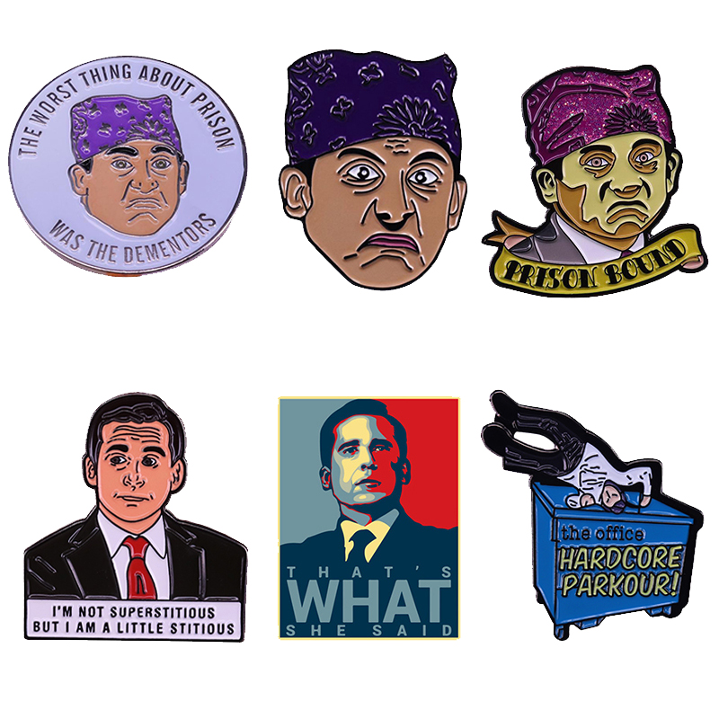 Pins The Dementors Prison Mike Not Superstitious But  That's What She Said Parkour The Office Meme Badge