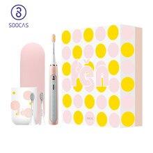 SOOCAS X5 – brosse à dents sonique électrique, Rechargeable, automatique, intelligente, ultrasonique, 12 modes IPX7
