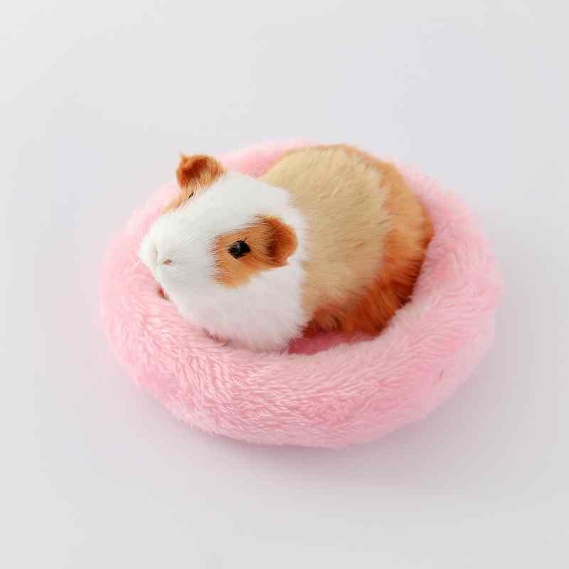 إمدادات الحيوانات الأليفة الشتاء لينة الصوف غينيا خنزير سرير صغير الحيوان قفص حصيرة صغيرة الهامستر الفئران سرير الهامستر أريكة تتحول لسرير القنفذ