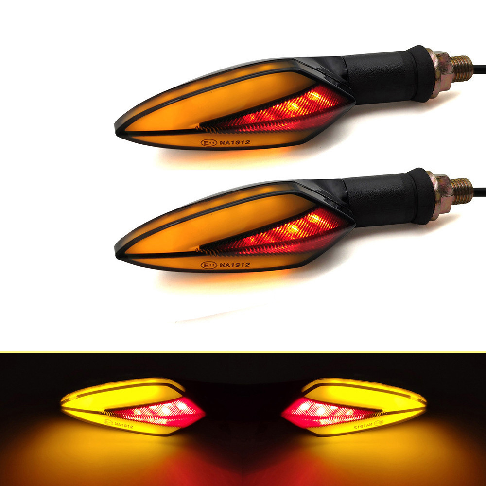 For Yamaha XJR FJR 1300 FZ1 FAZER YZF R 3 25 6 600R FZ600 Motorcycle LED Universal Flowing Blinker Light Waterproof Turn Signals