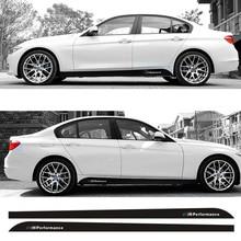 цена на For BMW F20 F21 F30 F31 F32 F33 F34 F15 F16 F10 F02 F11 F01 E92 E60 E61 M Performance Side Skirt Sill Stripe Body Decals Sticker