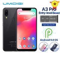"""UMIDIGI A3 Pro Global Band Android 9.0 5.7 """"19:9 téléphone mobile plein écran 3GB + 32GB 12MP + 5MP visage déverrouillage double Smartphone 4G"""