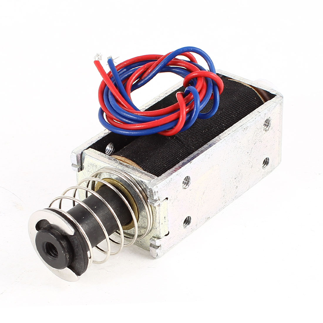 Uxcell DC 24V 0.3A 10mm Stroke 100g Force Push Pull Type Tubular Solenoid Electromagnet