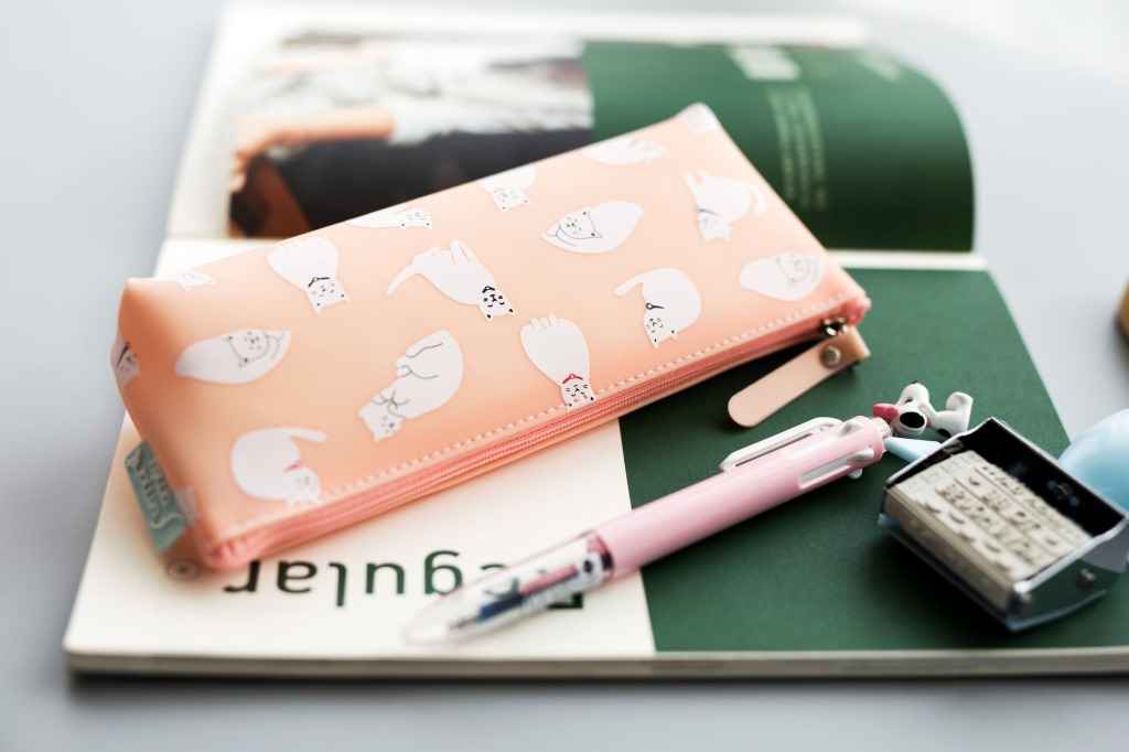 Stationery Cute Cat Stereo Pencil Bag Simple and Durable Large Capacity Pencil Case Acceptance of School Stationery