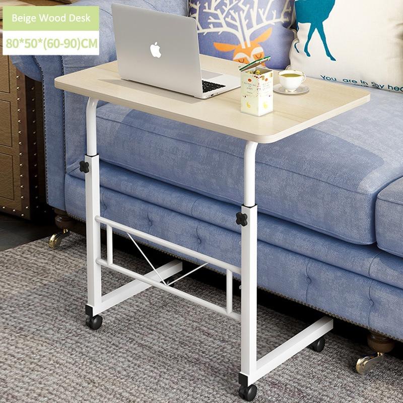 Домашний мобильный стол для ноутбука, прикроватный компьютерный стол, передвижной регулируемый столик для ноутбука, столик для учебы, компьютерная подставка, диван кровать - 4