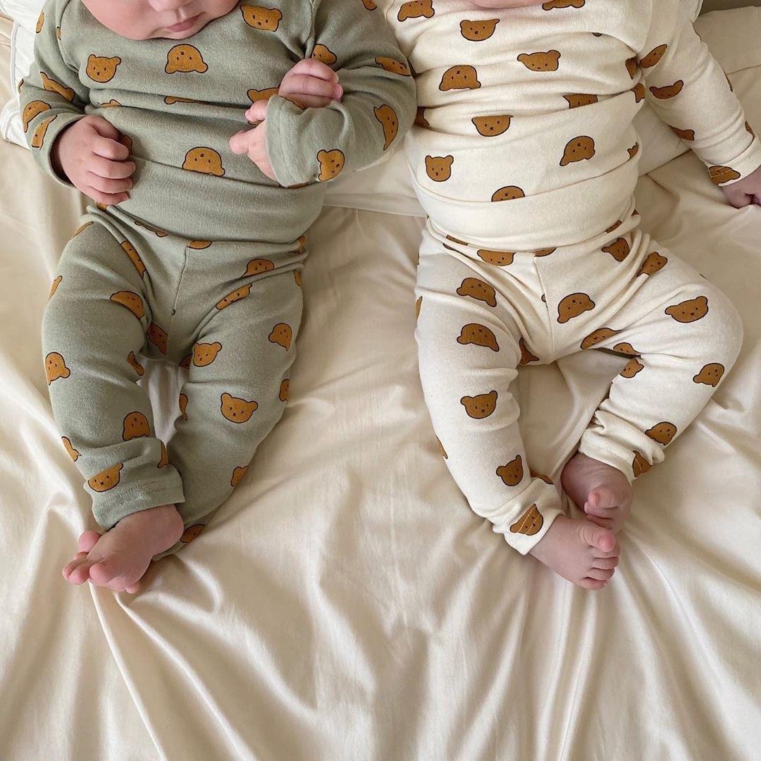 1353.0¥ 41% OFF|Newborn Baby Boys Long Sleeve Bodysuit Spring Autumn Cartoon Bear Print Clothes Tod...