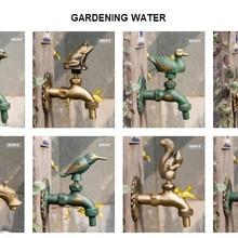 """Декоративный античный латунный садовый открытый кран холодной воды-с набором латунных быстроразъемных для 1/"""" дюймового шланга"""