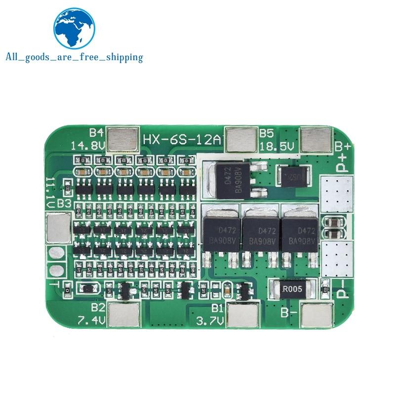 Завеса 6S 15A 24V PCB плата защиты BMS для 6 шт 18650 литий-ионная литиевая Батарея солнечных батарей модуль новое поступление