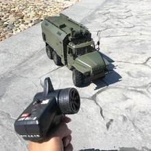 Metermall wpl b36 ural 1/16 2.4g 6wd rc carro caminhão militar rock crawler comando comunicação veículo rtr brinquedo para menino anos novos