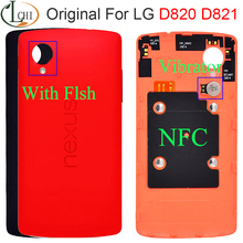 Original For LG D820 Battery Cover NEXUS 5X back cover glass door Case Rear D821 Housing For LG NEXUS 5 battery Cover with NFC цена и фото