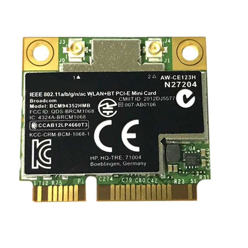 BCM4352 BCM94352HMB Half Mini PCIe PCI-Express Wireless WIFI WLAN BT Bluetooth Card 802.11AC 867 Mhz For 724935-001