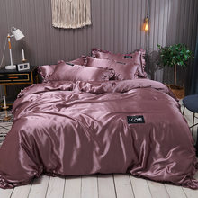 Комплект постельного белья из натурального шелкового атласа