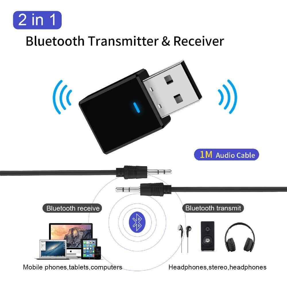 SY317 Bluetooth Transmitter Receiver Mini 3.5mm AUX Stereo Wireless Adapter for Car Music Bluetooth Transmitter for TV