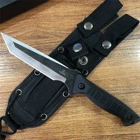 2019 Newest Fixed Blade Tactical Knives with Sheath Tanto Blade Outdoor Survival Knife Tactical Knife Ergonomics Free Shipping