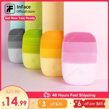 InFace ansigtsrensningsbørste ansigt hudplejeværktøjer vandtæt silikone elektrisk sonisk rensemiddel ansigtsskønhed massager