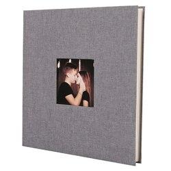 Okładka na pościel Album na zdjęcia samoprzylepna folia klejąca DIY Handmade księga gości pamięć na zdjęcia przyklejony typ szary Home Decor