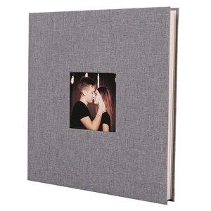 Image 1 - Okładka na pościel Album na zdjęcia samoprzylepna folia klejąca DIY Handmade księga gości pamięć na zdjęcia przyklejony typ szary Home Decor