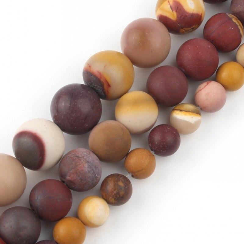 Матовые Круглые бусины из натурального камня диаметром 15 дюймов 6/8/10 мм