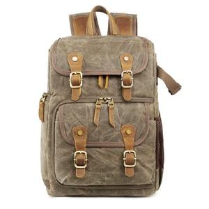 Image 3 - High Capacity Batik Canvas Fabric Photography Bag Outdoor Waterproof Camera Shoulders Backpack for Cannon/Nikon/Sony DSLR SLR